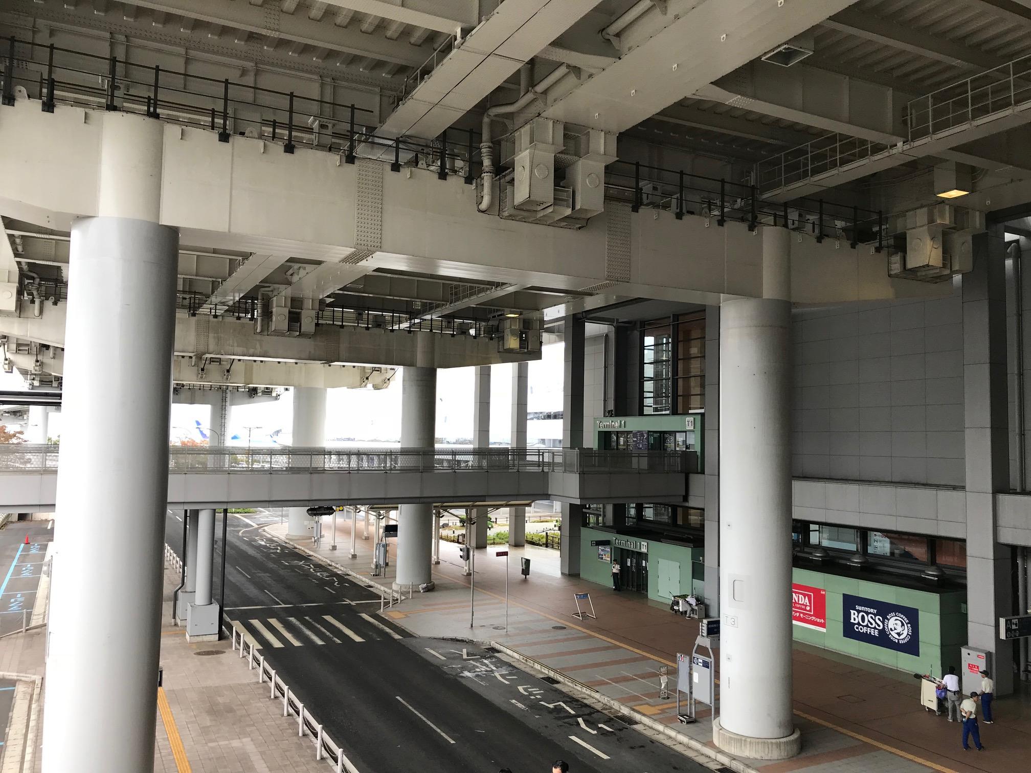 閉鎖中の関空第1ターミナル