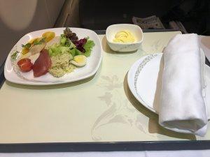 機内食 サラダ